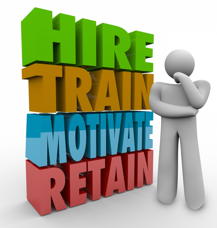 © Iqoncept   Dreamstime.com - <a href=&quot;https://www.dreamstime.com/stock-illustration-hire-train-motivate-retain-employee-retention-satisfaction-think-d-words-thinker-to-illustrate-human-resources-image50492963#res11341472&quot;>Hire Train Motivate Retain Employee Retention Satisfaction Think</a>